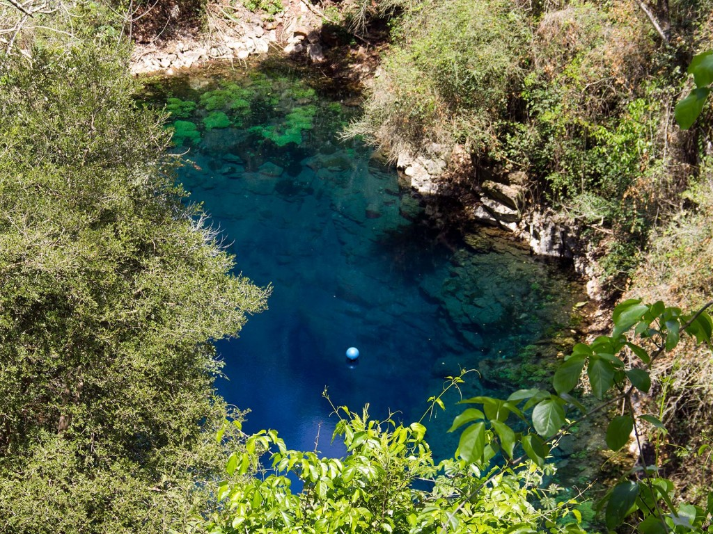 Lagoa Misteriosa antes de descer os 179 degraus