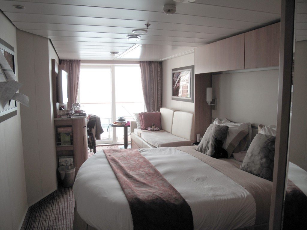 Cabine externa do Celebrity Cruise