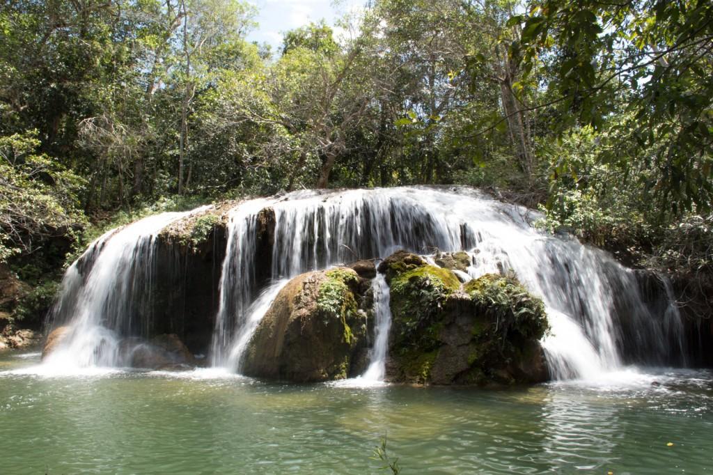 As cachoeiras da Estância Mimosa