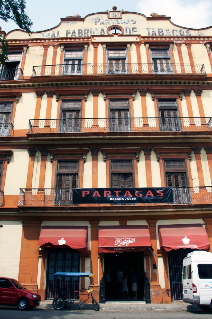 Loja da Partagas, localizada na antiga fábrica
