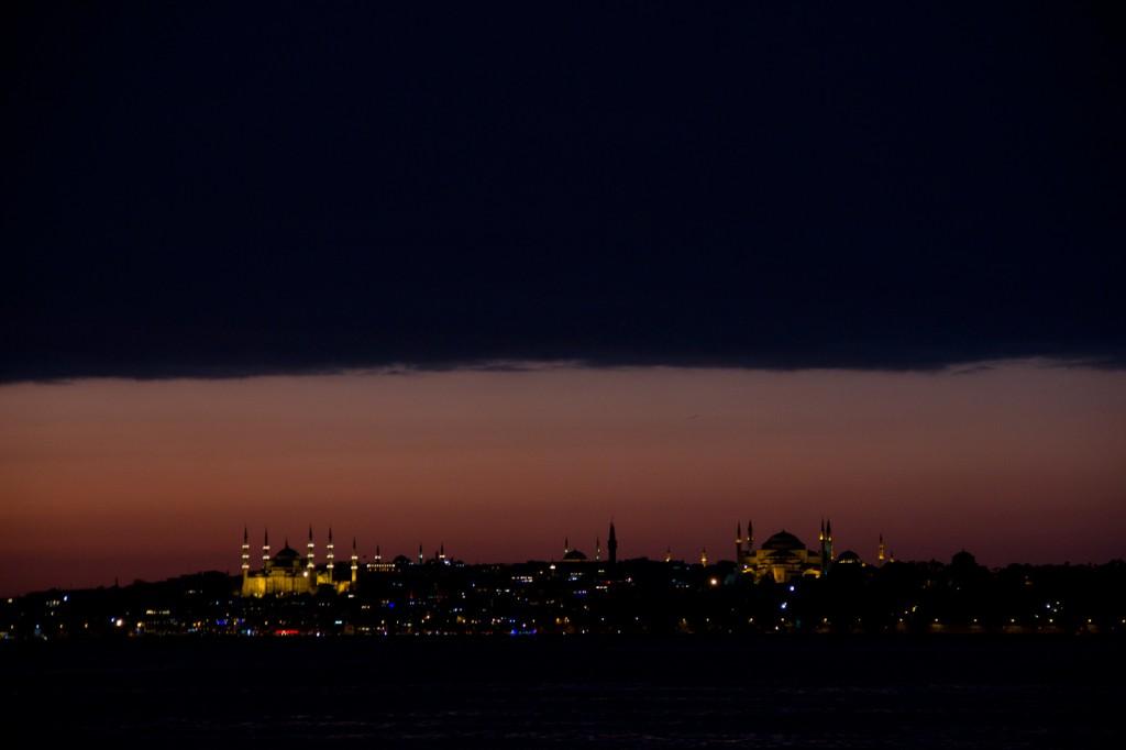 Por do Sol no Bósforo, voltando de Karaköy para Eminönu