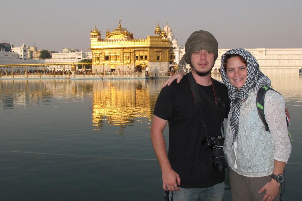Kris e Igor no Golden Temple