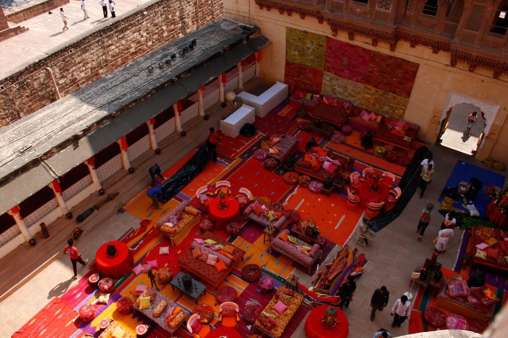 Decoração da festa na Fortaleza