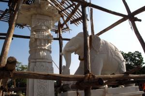 A construção de um templo