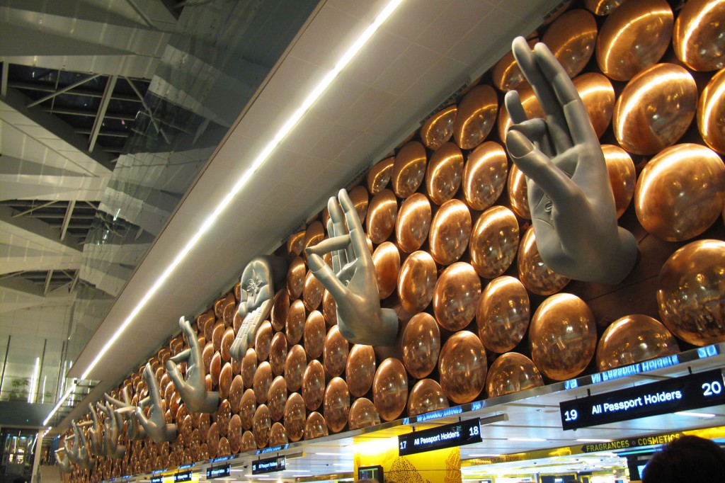Imigracao no aeroporto de Nova Delhi