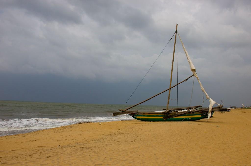Jangada em Negombo