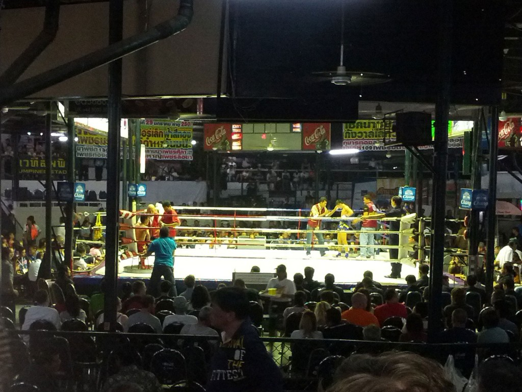 Muay Thai no estádio Lumpini