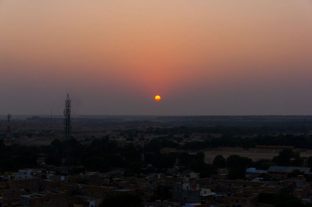 Pôr-do-sol em Jaisalmer, Índia