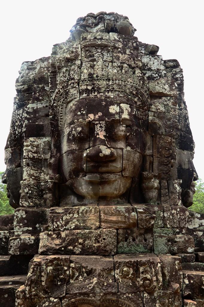 Buddha no templo Bayon